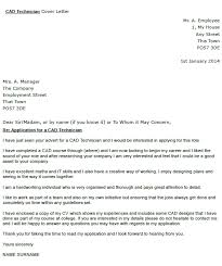 Cad Technician Cover Letter Example Icover Org Uk