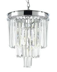 3 tier chandelier 3 odeon crystal fringe 3 tier chandelier chrome finish