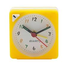 mini travel alarm clock ogue quartz battery operated with snooze