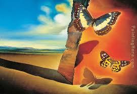 paysage aux papillons landscape with erflies painting salvador dali paysage aux papillons