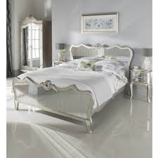 Kingsize Argente Mirrored Bed Glass Furniture Online
