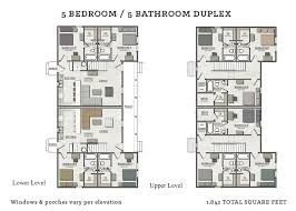 5 bedroom duplex plan modern house plans 5 bedroom duplex plan the cotes