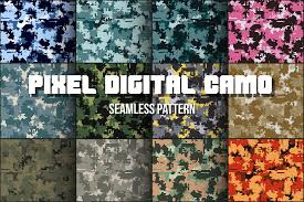 Camouflage Pattern New 48 Digital Pixel Camouflage Patterns Graphic Patterns Creative