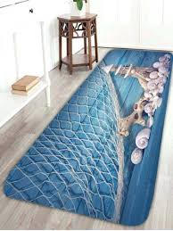 fish bath rug wood grain tower fishing net nautical bath rug light blue fish bathroom rug