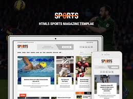 Newspaper Html Template Sports News Portal Free Bootstrap Html Magazine Template