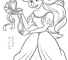Disney Princess Christmas Coloring Pages Printable Printing Disney