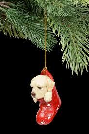 Christbaumschmuck Hund Labrador Im Strumpf Hunde Tiere