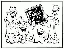 Small Picture Free Printable Dental Coloring Pages Print Free Printable Dental