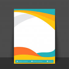 banner design template abstract flyer template or banner design with colorful waves and