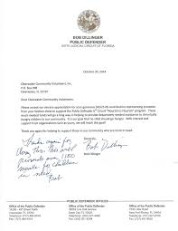 clearwater community volunteers public defender bob dillinger bob dillinger letter of appreciation