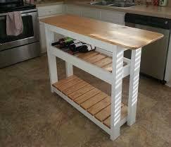 white kitchen island with wine rack