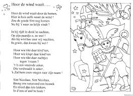 Sinterklaas Liedjes Kleurplaten Kleurplateneu