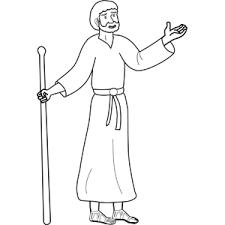 Bible coloring page illustrating john baptizing jesus in the jordan river. John The Baptist Coloring Page