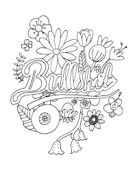 Swear Word Coloring Pages Printable Free Wurzen