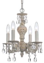 crystorama paris market 4 light swarovski spectra crystal white mini chandelier