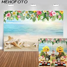 Us 9 59 40 Off Mehofoto Tropical Beach Photography Backdrop Hawaii Summer Birthday Luau Party Photo Background Baby Shower Banner Backdrops In