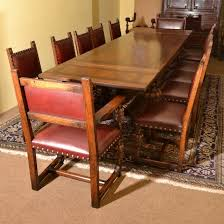05746 vine oak refectory draw leaf dining table