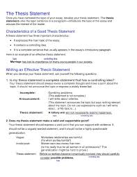 Example Of Thesis Essays Example Thesis Statements For Essays New College Thesis