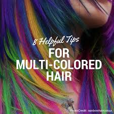 helpful tips for multicolored colored hair
