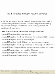 20 Car Sales Job Description | Lock Resume