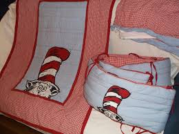 3 piece pbk pottery barn kids dr seuss cat in the hat baby crib set quilt 1 of 8only 1 available see more