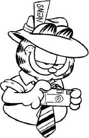 Garfield Coloring Pages Free Free Coloring Book
