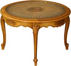 attractive vintage round coffee table with vintage round french country coffee table wickerglass louis xv