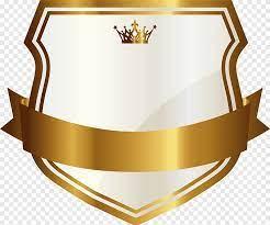 golden shield badge golden shield png