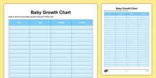 Baby Growth Chart Baby Grow Growth Weight Length