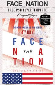 face nation free flyer psd template