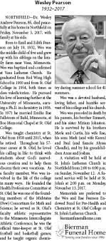 Obituary for Wesley Pearson