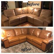 cognac leather sofa chair dye furniture service testimonials