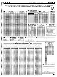 Answer Sheet Lsat Law School Admission Test Race And Ethnicity