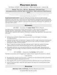 Bank Teller Resume Cover Letter Resume Letter Collection