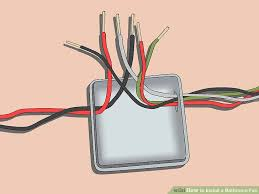 how to install a bathroom fan (with pictures) wikihow Fan Wiring To Electrical Power Outlet image titled install a bathroom fan step 11 Residential Electrical Wiring Diagrams
