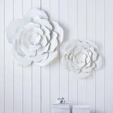 white metal flower wall decor