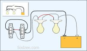 simple home electrical wiring diagrams sodzee com 3 way switch two lights
