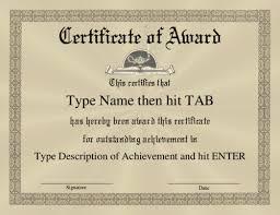 Formal Certificates Award Certificate Template Certificate Of Award With A Formal