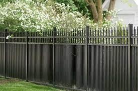 black aluminum garden fence gate