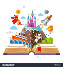 water color open book with a castle google search