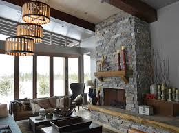 moose mountain ashlar 2 3 thick 4 heights with highlands hearth and mantle modern stone rock fireplace hearth mantle