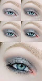 could be beautiful makeup for light summer using washes of silver blues and gray liner black liner will look aggressive and close the eye