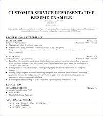 Customer Service Representative Resume Enchanting Customer Relation Representative Resume Service Template Sample