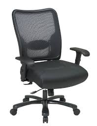 adjustable lumbar support office chair. This Big Man\u0027s Double AirGrid® Back And Layered Leather Seat Ergonomic Chair With Built-in Adjustable Lumbar Support Office Star Is Built To Last! -