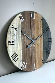 wooden wall clocks for big rustic wall clocks like this item large rustic wood wall