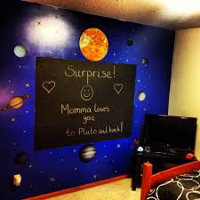 Outer Space Bedroom Decor Solar System Mural Fun Outer Space Decor For A Bedroom Or Nursery