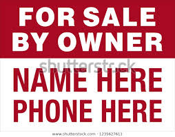 Sale By Owner Sign Red White Stock Image Download Now