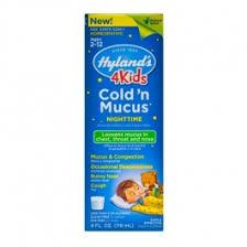 Hylands 4 Kids Cold N Mucus Nighttime Relief Liquid 4 Fl Oz