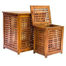 wood laundry basket fascinating
