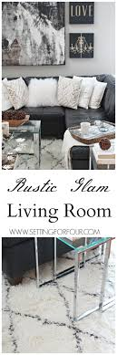 choosing rustic living room. Come See My Rustic Glam Living Room Makeover And New Area Rug! I\u0027m Choosing